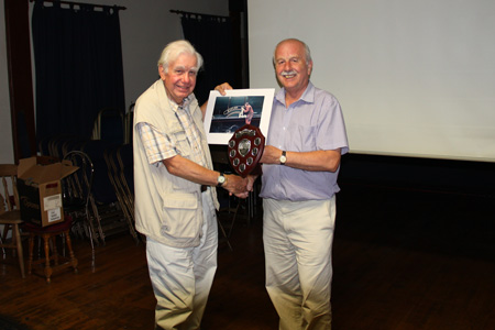Roger Marsh presents Norman Browne with the 2013 trophy