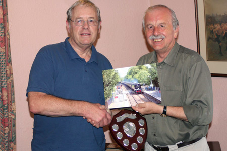 Roger Marsh presents Richard Duckworth with the 2009 trophy